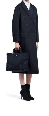 Prada Shoulder Bags Fourre-tout moyen en nylon et cuir Kate&You-ID8405