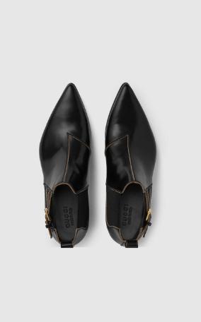 Gucci - Bottes & Bottines pour HOMME Bottines en cuir pour homme online sur Kate&You - 596918 DS8I0 1000 K&Y8638