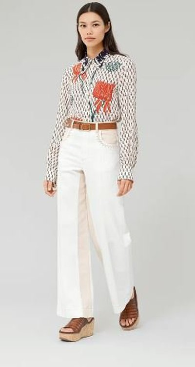 Chloé - Shirts - CHEMISE COL PAPILLON for WOMEN online on Kate&You - CHC21AHT6030024T K&Y11173