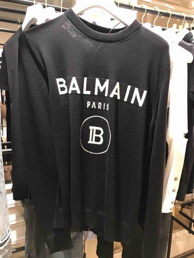 Balmain - Maglioni per UOMO Maille noir et blanc avec logo online su Kate&You - SH03964 K108 K&Y1725