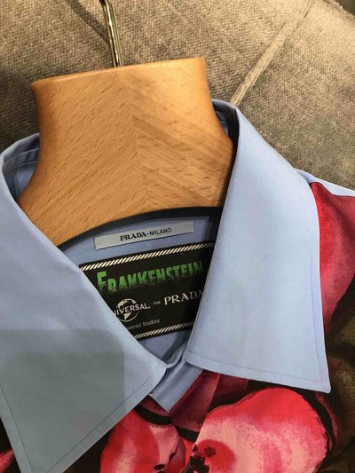 Prada - Chemises pour HOMME Printed poplin shirt online sur Kate&You - UCN247_1U6B_F0383_S_192 K&Y1596