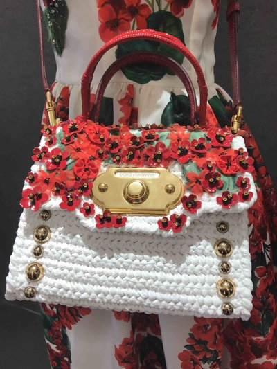 Dolce & Gabbana - Tote Bags - Welcome floral-appliqué for WOMEN online on Kate&You - BB6437 K&Y1582