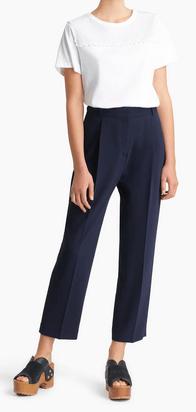 Chloé Straight Trousers Pantalon court en crêpe signature  Kate&You-ID8343