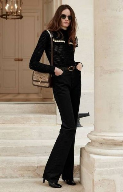 Yves Saint Laurent - High-Waisted Trousers - for WOMEN online on Kate&You - 644332YL8991001 K&Y11896