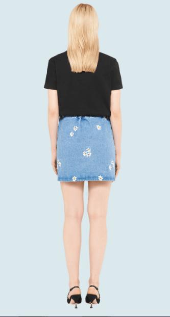 Miu Miu - T-shirts pour FEMME online sur Kate&You - MJN192_1WO8_F0002 K&Y7016