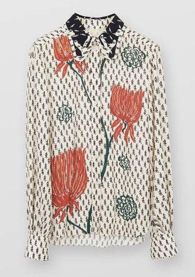 Chloé Shirts CHEMISE COL PAPILLON Kate&You-ID11173