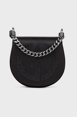 Giorgio Armani Cross Body Bags Sac à bandoulière rond en satin avec logo GA en st Kate&You-ID8352