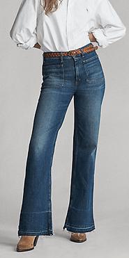 Ralph Lauren - Jeans Bootcut pour FEMME online sur Kate&You - 483848 K&Y9406