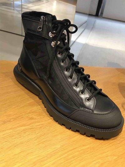 Dior Homme Boots Oblique et veau noir Kate&You-ID1840
