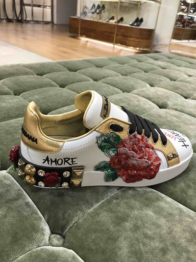 Кроссовки - Dolce & Gabbana для ЖЕНЩИН Portofino Sneakers Girls white leather онлайн на Kate&You - - K&Y1474