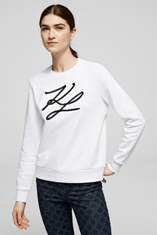 Karl Lagerfeld Sweatshirts & Hoodies SWEAT KL SIGNATURE Kate&You-ID8619