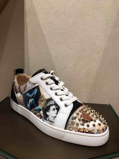 Christian Louboutin - Sneakers per UOMO Louis Junior Spikes Orlato online su Kate&You - 19w K&Y1721