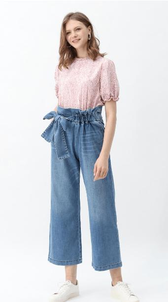 Широкие брюки - Chicwish для ЖЕНЩИН онлайн на Kate&You - B200120008 - K&Y7422