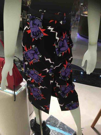 Prada - 3_4 length skirts - Jupe en popeline avec imprimé Hand for WOMEN online on Kate&You - P105Q_1U6S_F0030_S_192 K&Y1496