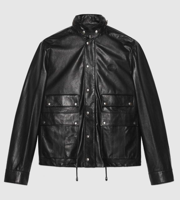 Gucci Leather Jackets Veste en cuir avec GG Kate&You-ID8384