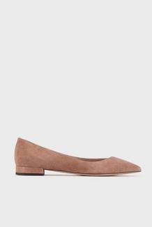 Giorgio Armani Ballerina Shoes Ballerines en cuir suédé à bout pointu avec échanc Kate&You-ID8361