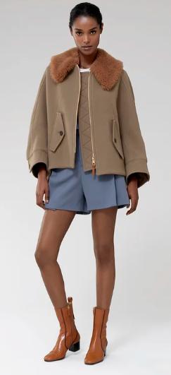 Однобортные пальто - Chloé для ЖЕНЩИН онлайн на Kate&You - CHC21SMA0307248B - K&Y10090