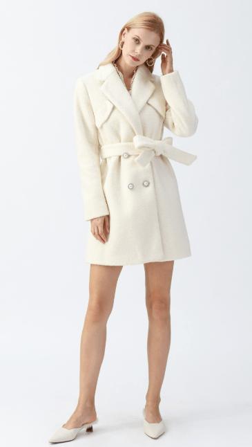 Chicwish - Manteaux Croisés & Duffle-Coat pour FEMME online sur Kate&You - T191203013 K&Y7453