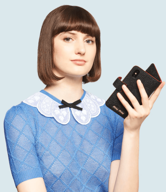 Чехлы для телефонов - Miu Miu для ЖЕНЩИН онлайн на Kate&You - 5ZH106_2BC3_F0002 - K&Y6480