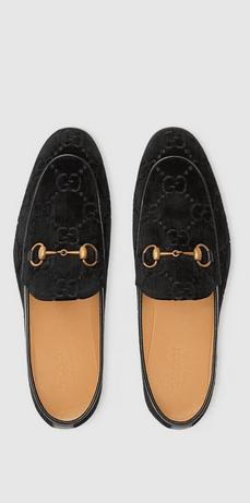 Gucci - Mocassini per UOMO Mocassins Gucci Jordaan en velours GG online su Kate&You - 430088 9JT80 1000 K&Y8388