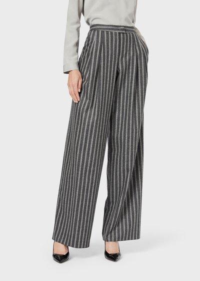 Широкие брюки - Giorgio Armani для ЖЕНЩИН онлайн на Kate&You - 9CHPP08OT018G1PZ01 - K&Y2384