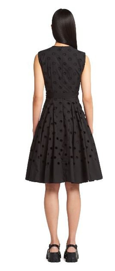 Prada - Midi dress - Popeline brodée for WOMEN online on Kate&You - P3E25R_1Y1E_F0002_S_211 K&Y11182