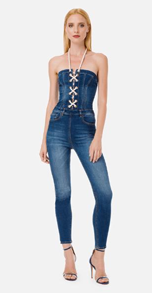 Elisabetta Franchi - Pantalons Skinny pour FEMME online sur Kate&You - TJ12S01E2 K&Y7113