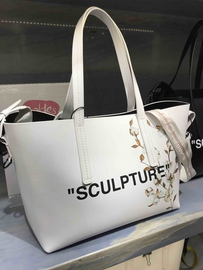 Off-White Tote Bags Flower Sculpture  Kate&You-ID1433