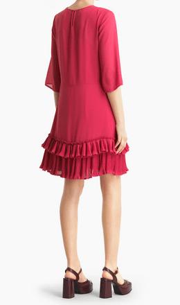 Короткие платья - Chloé для ЖЕНЩИН Robe en georgette plissée онлайн на Kate&You - CHS20ARO340336Y8 - K&Y8342