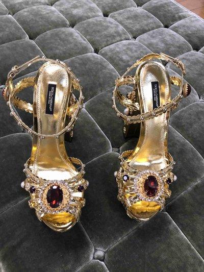 Dolce & Gabbana - Sandales pour FEMME Kheira Oro Chiaro/Nudo online sur Kate&You - CR0787 AK834 8D680 K&Y1468