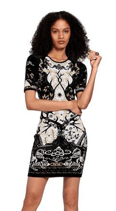 Платья средней длины - Roberto Cavalli для ЖЕНЩИН онлайн на Kate&You - LQM140MI001T1232 - K&Y9112