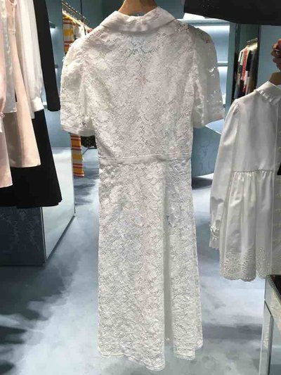 Miu Miu - Vestiti corti per DONNA Robe en coton et dentelle online su Kate&You - MF3264 K&Y1522