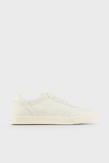 Giorgio Armani Trainers Sneakers en cuir avec logo estampé Kate&You-ID8350