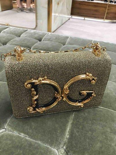 Dolce & Gabbana Mini Sacs Sac à bandoulière de la ligne DG Girls en lurex so Kate&You-ID1525