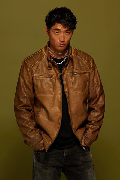 Desigual Leather Jackets Kate&You-ID2255