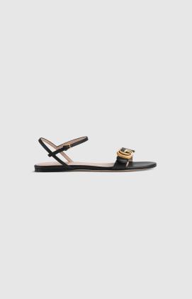 Gucci Sandals Sandales en cuir avec Double G Kate&You-ID8635
