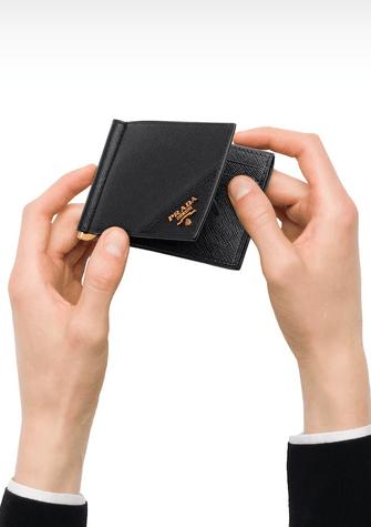 Prada - Portefeuilles et Porte-documents pour HOMME Portefeuille en cuir saffiano online sur Kate&You - 2MN001_QME_F0632 K&Y8408