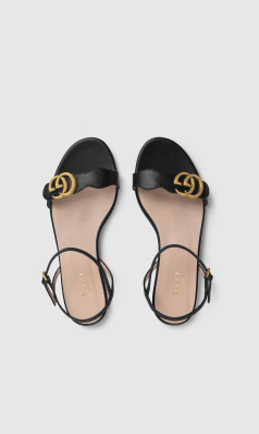 Gucci - Sandals - Sandales en cuir avec Double G for WOMEN online on Kate&You - 524631 A3N00 1000 K&Y8635