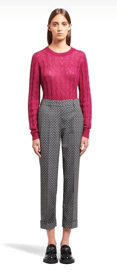 Prada - Pantalons Droits pour FEMME online sur Kate&You - P281D_1XQB_F0013_S_202 K&Y9538