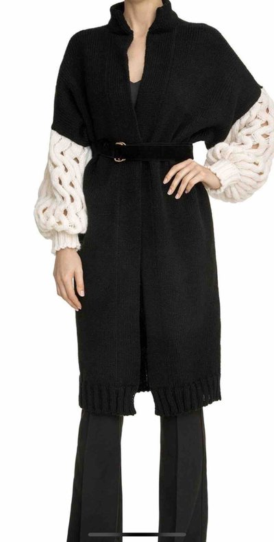 LOOM Weaving  Single Breasted Coats Cardigan Kate&You-ID4357
