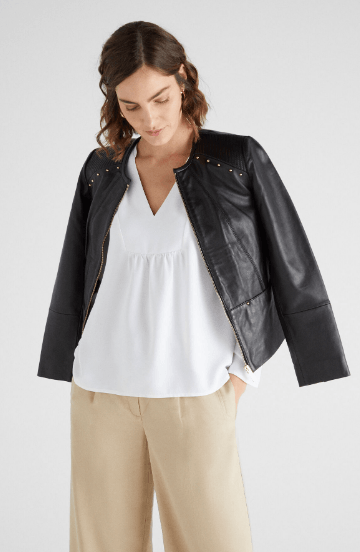 Cortefiel Leather Jackets Kate&You-ID7223
