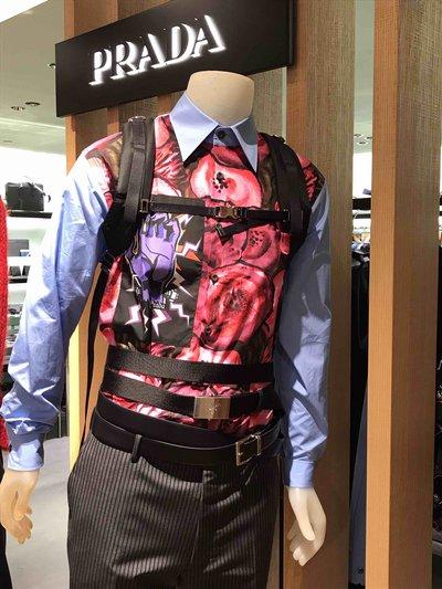 Prada Shirts Popeline Legger imprimé Frankenstein  Kate&You-ID1578
