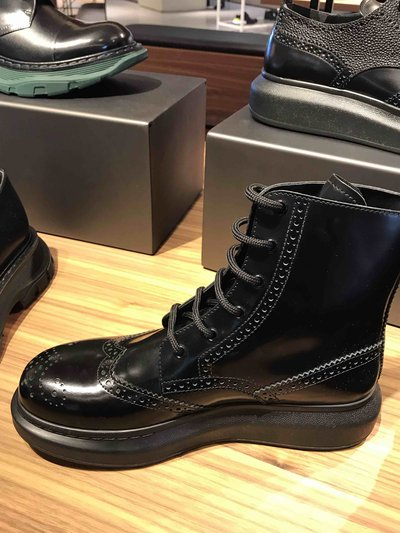 Alexander McQueen - Bottes & Bottines pour HOMME Lacets Hybrid online sur Kate&You - 586199WHX511000 K&Y1755