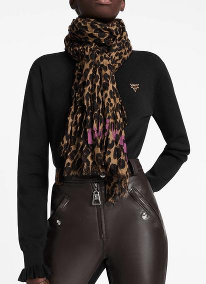 Louis Vuitton Scarves Étole Léopard Kate&You-ID8592