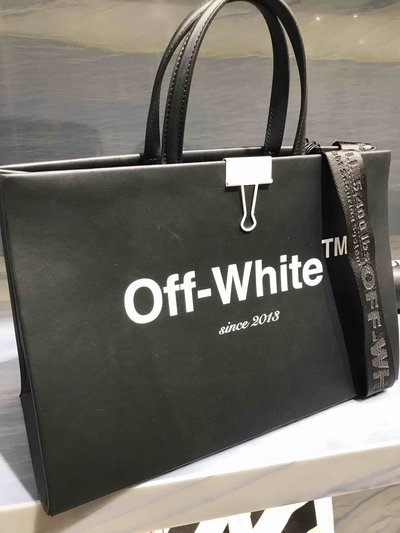 Off-White - Borse tote per DONNA Box Bag Medium online su Kate&You - K&Y1403